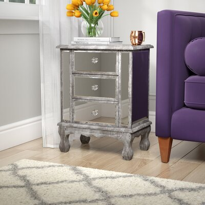 Rothman End Table with Storage Finish: Weathered Gray