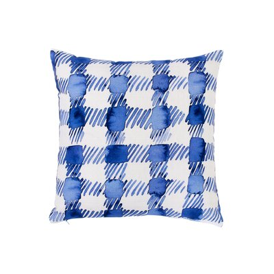 Gingham 100% Cotton Throw Pillow