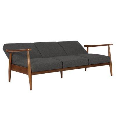 Whelan Mid-Century Modern Convertible Sofa Upholstery: Gray