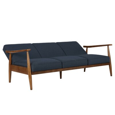 Whelan Mid-Century Modern Convertible Sofa Upholstery: Blue