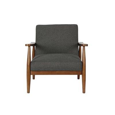 Whelan Mid-Century Armchair Upholstery: Gray