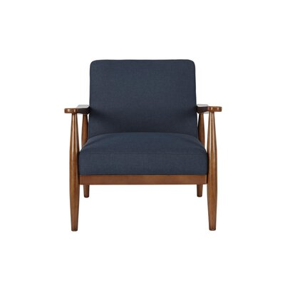 Whelan Mid-Century Armchair Upholstery: Blue