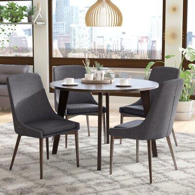 Blaisdell 5 Piece Dining Set Upholstery: Dark Gray