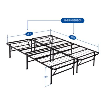 Garrity Metal Comfort Bed Frame Size: King