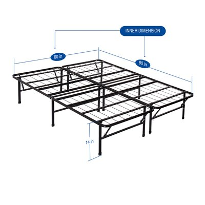 Garrity Metal Comfort Bed Frame Size: Queen