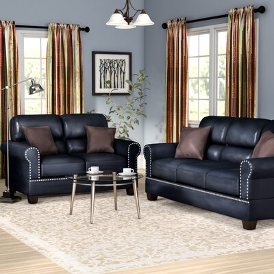 Boyster 2 Piece Living Room Set Upholstery: Black