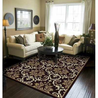 Banning Modern Black/Brown Indoor/Outdoor Area Rug Rug Size: Runner 2 x 8