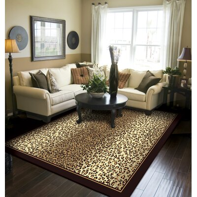 Marlette Cheetah Animal Print Leopard Brown/Beige Indoor/Outdoor Area Rug Rug Size: Rectangle 5 x 8