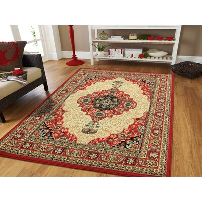 Kulas Red Indoor/Outdoor Area Rug Rug Size: Rectangle 5 x 8