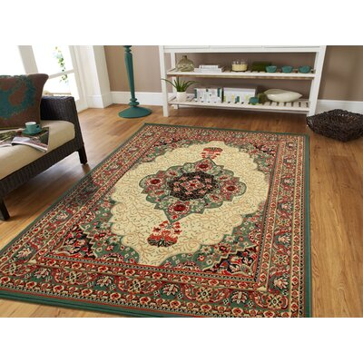Kulick Oriental Indoor/Outdoor Area Rug Rug Size: Rectangle 5 x 8