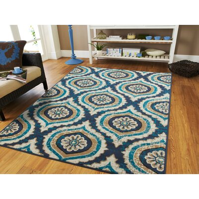 Betton Navy Indoor/Outdoor Area Rug Rug Size: Rectangle 5 x 8
