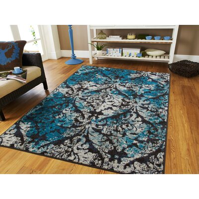 Brookdene Modern Blue Indoor/Outdoor Area Rug Rug Size: Rectangle 2 x 3