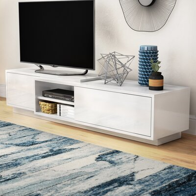 Dedrick 71 TV Stand Color: White