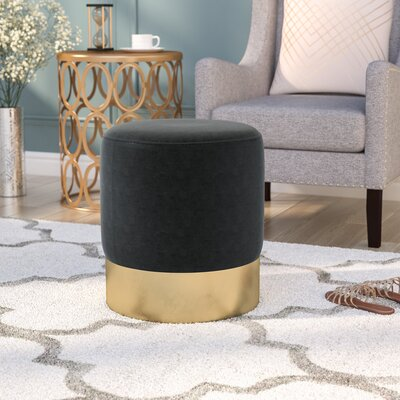Ellaline Ottoman Upholstery: Dark Grey