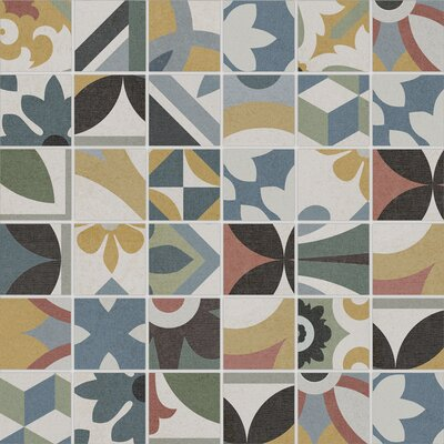 Bouquet 12 x 12 Porcelain Mosaic Tile in Criollo