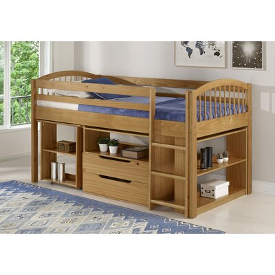 Junior Twin Loft Bed with Storage Drawer Bed Frame Color: Cinnamon