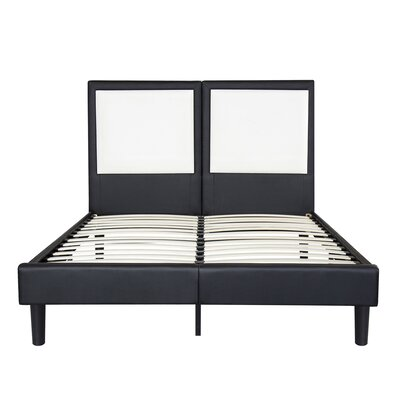 Casteel Faux Leather Platform Bed Frame Size: Queen