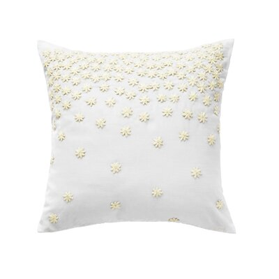 Textural Embroidery 100% Cotton Throw Pillow