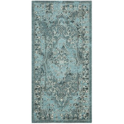 Port Laguerre Turquoise Area Rug Rug Size: Rectangular 2 x 36