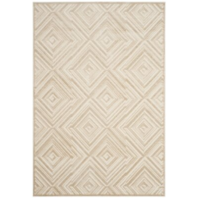 Pittenger Cream Area Rug Rug Size: Rectangular 51 x 76