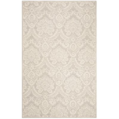Deidamia Hand-Woven Wool Ivory Area Rug Rug Size: Round 6