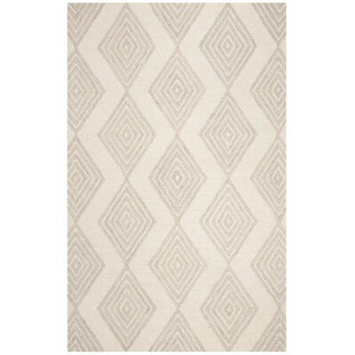 Pizano Hand-Woven Wool Ivory/Silver Area Rug Rug Size: Runner 23 x 8