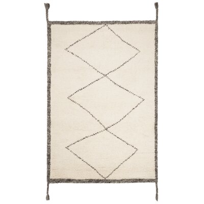 Betances Hand-Woven Wool Ivory Area Rug Rug Size: Rectangular 4 x 6