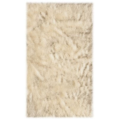 Bilberry Cream Area Rug Rug Size: Rectangular 3 x 5