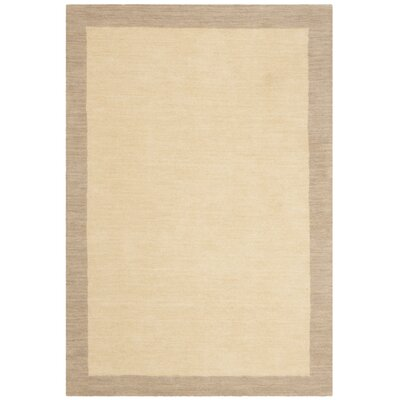 Archer Hand-Woven Wool Ivory/Beige Area Rug Rug Size: Rectangular 4 x 6