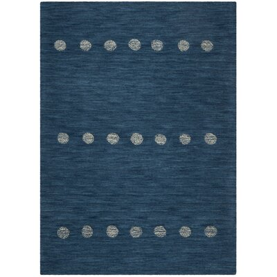 Pixley Hand-Woven Wool Blue Area Rug Rug Size: Square 6