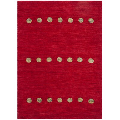Pixley Hand-Woven Wool Red Area Rug Rug Size: Rectangular 5 x 8