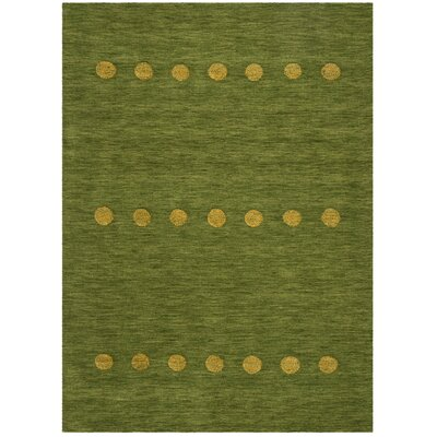 Pixley Hand-Woven Wool Green Area Rug Rug Size: Round 6