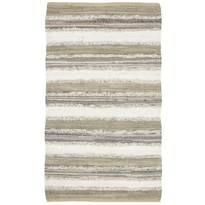 Bester Hand-Woven Cotton Beige Area Rug Rug Size: Square 6