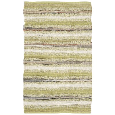 Bester Hand-Woven Cotton Green Area Rug Rug Size: Rectangular 8 x 10