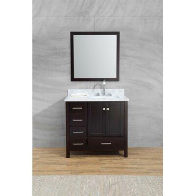 Harewood 37 Single Bathroom Vanity Set with Mirror Base Finish: Espresso