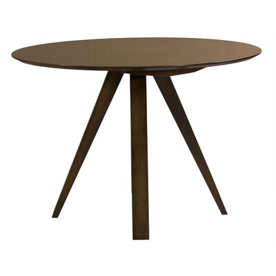 Drake Dining Table Color: Walnut, Size: 42 H x 42 W