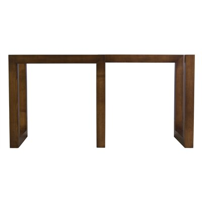 Reesa Dining Table Base Color: Walnut, Size: 56 W x 20 D