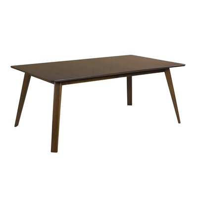 Caterina Extendable Dining Table Color: Walnut, Size: 60 L x 36 W