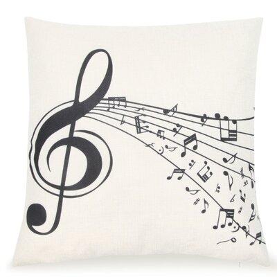 Chouhan Music Treble Clef Throw Pillow