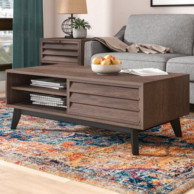 Dover Coffee Table Color: Brown Walnut