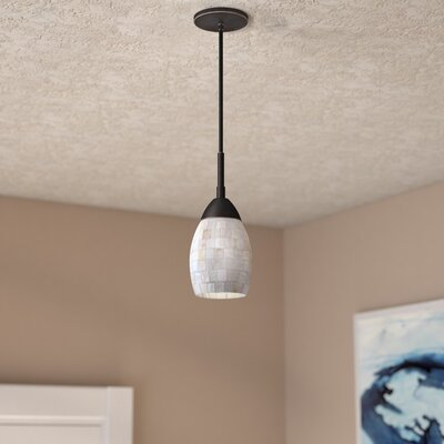 Murphy 1-Light Elliptical Mini Pendant Finish: Bronze
