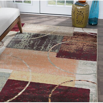 Weishaar Brown/Beige Area Rug Rug Size: Rectangle 9 x 10