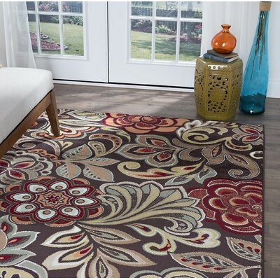 Brightling Brown Area Rug Rug Size: Rectangle 9 x 12