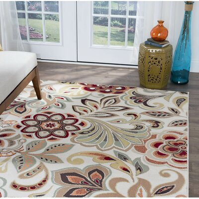 Brightling Ivory Area Rug Rug Size: Rectangle 9 x 12