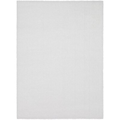 Carlos Shag Plush Ivory Area Rug Rug Size: Rectangle 53 x 73