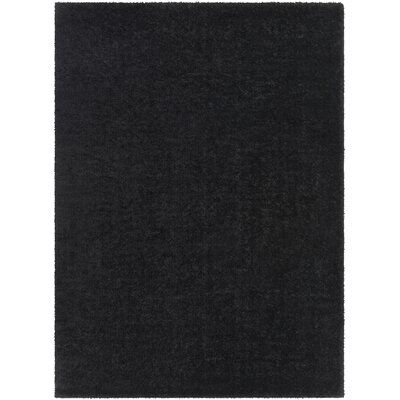 Carlos Shag Plush Black Area Rug Rug Size: Rectangle 710 x 103