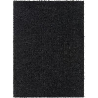 Carlos Shag Plush Black Area Rug Rug Size: 27 x 73