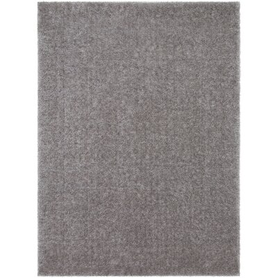Carlos Shag Plush Gray Area Rug Rug Size: Rectangle 53 x 73
