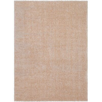 Carlos Shag Plush Khaki Area Rug Rug Size: Rectangle 53 x 73