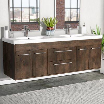 Zuzanna 60 Modern Double Bathroom Vanity Set